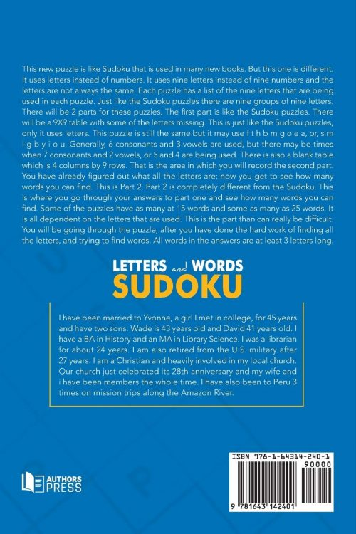 letters and words soduko