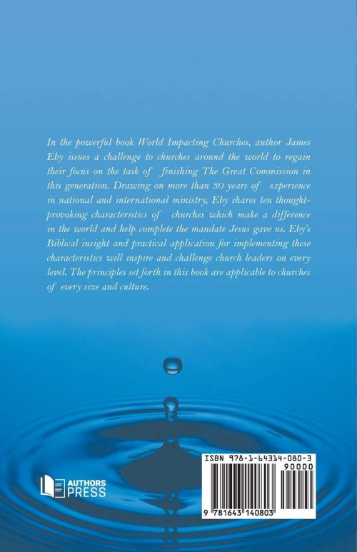 World Impacting Churches back cover